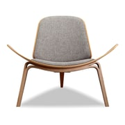 Kardiel Tripod Plywood Modern Lounge Chair; Urban Pebble