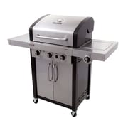 CharBroil Professional 3 Burner Free Standing Liquid Propane Gas Grill w/ Cabinet
