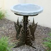 Stone Age Creations Hummingbird Silhouette Birdbath; Charcoal