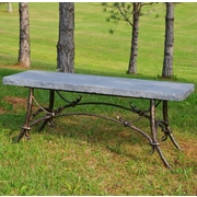 Stone Age Creations Tuscany Park Bench; Charcoal Granite