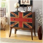 Hokku Designs Union Jack Flag Print 3 Drawer Chest