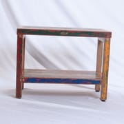 EcoDecors Recycled Salvaged Reclaimed Boat Wood Garden Bench