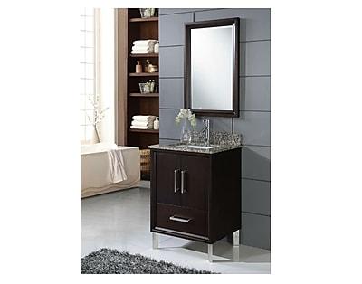 Chelsea Home Furniture Luna 24'' Single Vanity Set with Mirror