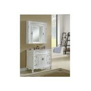 Chelsea Home Furniture Cambridge 42'' Single Vanity Set w/ Medicine Cabinet; Antique White