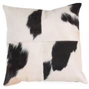 Foreign Affairs Home Decor Kuh Cow Hide Throw Pillow