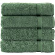 Makroteks Textile L.L.C. Turkish Cotton Bath Towel (Set of 4); Green