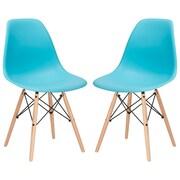Edgemod Side Chair (Set of 2); Aqua