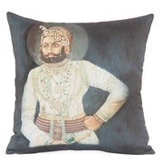 Foreign Affairs Home Decor Raja Photographic Embroidered Throw Pillow