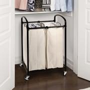 Seville Classics 2 Bag Laundry Sorter; Black