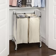Seville Classics 2 Bag Laundry Sorter; Chrome