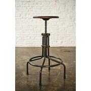 Nuevo V19C Adjustable Height Bar Stool; Seared Oak