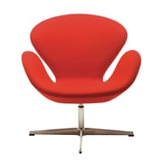 Nuevo Arturo Lounge Chair; Red