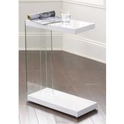 Steve Silver Furniture Elaina End Table; White