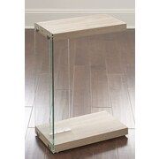 Steve Silver Furniture Elaina End Table; Light Oak