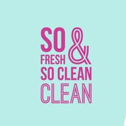 SweetumsWallDecals 3 Piece So Fresh and so Clean Bathroom Wall Decal Set; Hot Pink