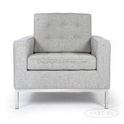 Kardiel Modern Arm Chair; Dacite