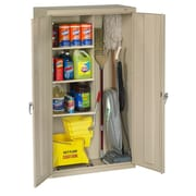 Tennsco Janitorial 2 Door Storage Cabinet; Putty
