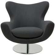 Nuevo Conner Lounge Chair; Dark Grey