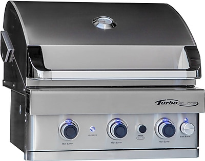 Barbeques Galore Turbo Elite 3-Burner Built-In Gas Grill w/ Rotisserie; Natural Gas WYF078278349696