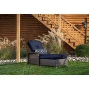 Hanover Strathmere Chaise Lounge with Cushion; Navy Blue