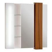 DecoLav Malena Falls Illuminated Mirrored Cabinet; Teak Solid Wood