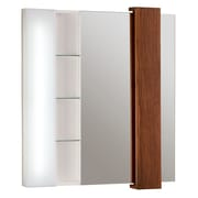 DecoLav Malena Falls Illuminated Mirrored Cabinet; Ship Wood
