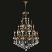 Worldwide Lighting Versailles 25 Light Crystal Chandelier; Clear