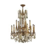 Worldwide Lighting Windsor 15 Light Crystal Chandelier; French Gold