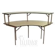 Midas Event Supply Elite Semi Circle Folding Table; 36'' x 96''