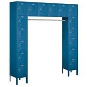Salsbury Industries 6 Tier Standard Box Locker; Blue