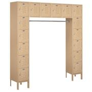 Salsbury Industries 6 Tier Standard Box Locker; Tan