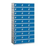 Salsbury Industries 10 Tier 3 Wide Contemporary Locker; Blue