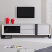 B-Modern Entertainer TV Stand; Cream