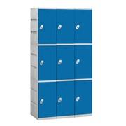 Salsbury Industries 3 Tier 3 Wide Contemporary Locker; Blue