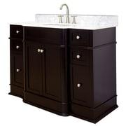 American Imaginations 50'' Single Traditional Birchwood-Veneer Bathroom Vanity Set; Brushed Nickel