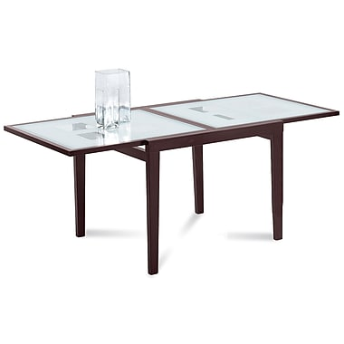 Domitalia poker 90 extendable dining table wenge staples for Table 90 extensible