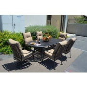 K B Patio Florence 7 Piece Dining Set w/ Cushions
