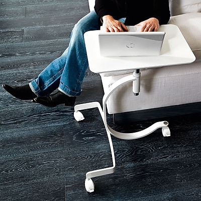 Domitalia Media Adjustable Laptop Cart; White