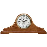 Infinity Instruments Oak Tambour Mantel Clock with Chime