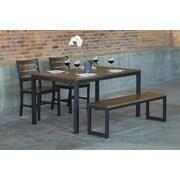 Elan Furniture Loft 4 Piece Dining Set; Chocolate Spice