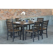 Elan Furniture Loft 7 Piece Dining Set; Chocolate Spice
