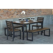 Elan Furniture Loft  5 Piece Dining Set; Chocolate Spice