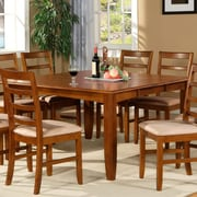 Wooden Importers Parfait 7 Piece Dining Set; Saddle Brown