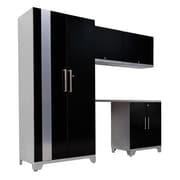 NewAge Products Performance Plus Series 7' H x 8' W x 2' D 5 Piece Cabinet Set; Black