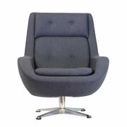 Design Tree Home Commander Swivel Arm Chair; Gray