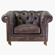 Design Tree Home Chesterfield Leather Club Chair