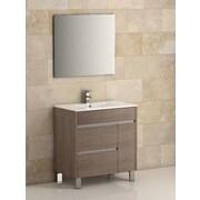Eviva Tauro  32'' Single Modern Bathroom Vanity Set; Medium Oak