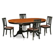 Wooden Importers Newton 5 Piece Dining Set; Black / Cherry