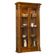 French Heritage Pyrenees Curio Cabinet; Coffee Brown
