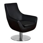 Aeon Furniture Euro Home Brett Lounge Chair; Leather - Black